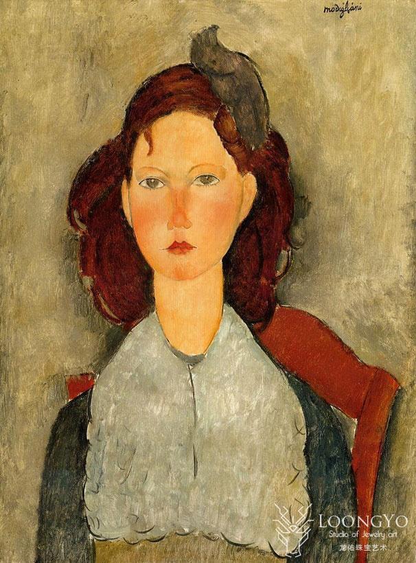 莫迪里阿尼《坐着的年轻女孩》